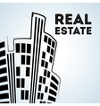 Real estate design building and city concept vector image