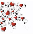 Romantic hearts vector image vector image