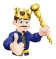 cartoon king vector image vector image