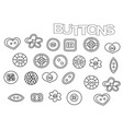 hand drawn sewing buttons set coloring book page vector image