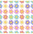A seamless template with a floral design vector image vector image