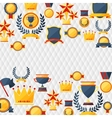 awards and trophies icons background vector image