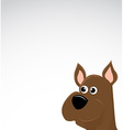 Dog with speech bubble vector image vector image