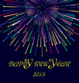 Happy new year2015 with firework vector image