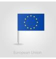 European Union flag pin map icon vector image
