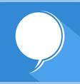 blue comic icon vector image