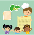 childrens food menu delicious diet vector image