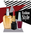 fashion style cosmetics perfume wo poster vector image