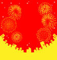 Fireworks abstract Chinese New Year vector image