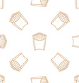 french fries outline seamless pattern vector image
