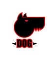 Logo of angry dog with strong collar Aggressive vector image