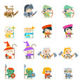 male female fantasy rpg game character vector image