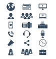 Office and finance icons vector image