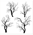 set of trees silhouettes vector image