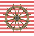 Ship steering wheal vector image
