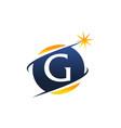 swoosh logo letter g vector image