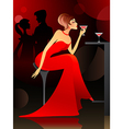 woman at the bar vector image