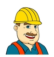 Builder man or engineer vector image