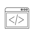 sketch silhouette browser web development icon vector image