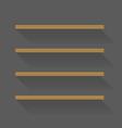Flat design empty book shelves vector image