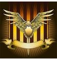 Eagle shield vector image