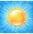 Sun With Sunburst And Bokeh vector image vector image