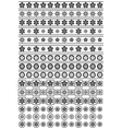 Black and white floral ornaments vector image