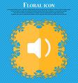Speaker volume Sound Floral flat design on a blue vector image
