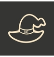 Flat in black and white mobile application Witch s vector image