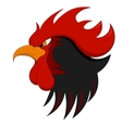 a fiery rooster on New year vector image