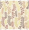 Autumn floral pattern vector image