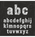 Chalk alphabet on black background ilustration vector image