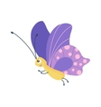 Cute butterfly isolated on white vector image