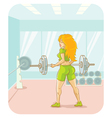 Girl fitness vector image