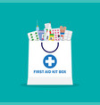 shopping bag with different medical pills and vector image