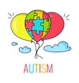 Autism concept with balloons vector image