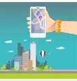 City internet navigation concept web banner vector image