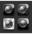 Camera apps icon set vector image