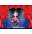 A young man performing at the stage vector image vector image