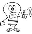 Light bulb yelling into microphone vector image