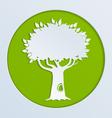 tree green paper vector image vector image