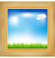 landscape in frame vector image