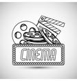 cinema graphic design vector image