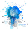 Abstract Watercolor art hand paint background with vector image