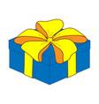 blue close gift box sign 3511 vector image