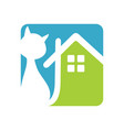 cat house vector image