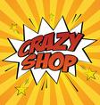 Comic sales vector image