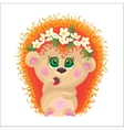 Cute hedgehog on a white background vector image