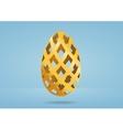 Decorative golden egg vector image