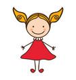 happy woman cartoon icon vector image